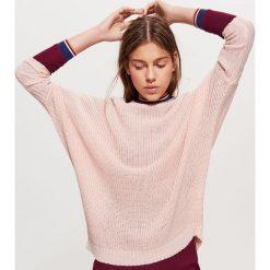 Sweter z kimonowym rękawem - Kremowy. Białe swetry damskie Cropp. Za 69.99 zł.