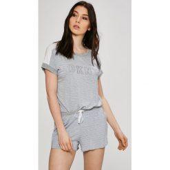 Dkny - Piżama. Szare piżamy damskie DKNY, z nadrukiem, z dzianiny. W wyprzedaży za 219.90 zł.