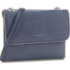 Torebka PUCCINI - BT28573  Granatowy 7A. Niebieskie listonoszki damskie Puccini, ze skóry ekologicznej. W wyprzedaży za 167.00 zł.
