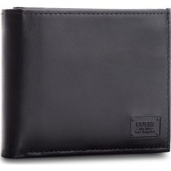 Duży Portfel Męski GUESS - SM2530 LEA20  BLA. Czarne portfele męskie Guess, ze skóry. Za 259.00 zł.