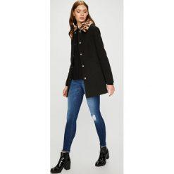 Trussardi Jeans - Płaszcz. Czarne płaszcze damskie TRUSSARDI JEANS, z acetatu. W wyprzedaży za 1,099.00 zł.