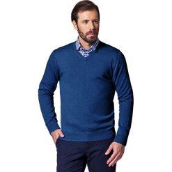 Sweter Jeans Robin. Niebieskie kardigany męskie LANCERTO, z bawełny. Za 199.90 zł.