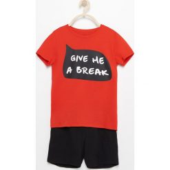 Piżama z krótkimi spodenkami - Czerwony. Piżamy męskie Reserved. Za 29.99 zł.