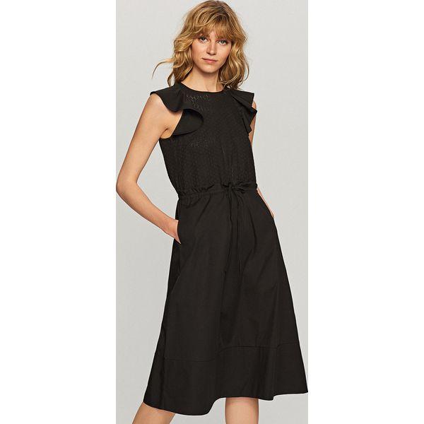 3e9895051f Sukienka z ażurowym topem - Czarny - Sukienki damskie marki Reserved ...