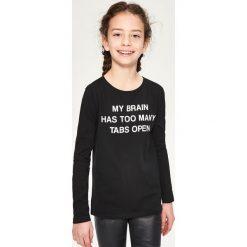 Bluzka z długim rękawem - Czarny. Bluzki dla dziewczynek Reserved, z długim rękawem. Za 14.99 zł.