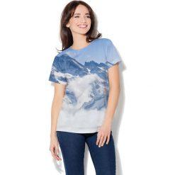 Colour Pleasure Koszulka CP-030  53 niebiesko-biała r. XXXL/XXXXL. Bluzki damskie Colour Pleasure. Za 70.35 zł.