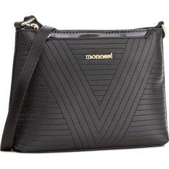 Torebka MONNARI - BAGA022-020 Black. Czarne listonoszki damskie Monnari, ze skóry ekologicznej. W wyprzedaży za 119.00 zł.
