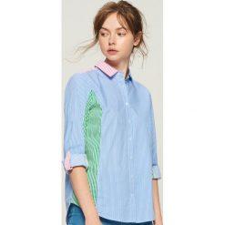 Koszula z łączonych materiałów - Wielobarwn. Szare koszule damskie Sinsay, z materiału. W wyprzedaży za 29.99 zł.