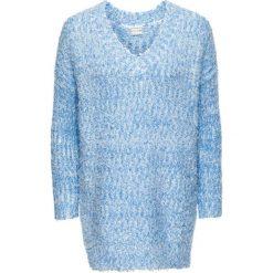 Sweter dzianinowy bonprix jasnoniebiesko-biały. Swetry damskie marki bonprix. Za 49.99 zł.