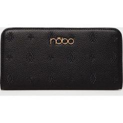 Nobo - Portfel. Czarne portfele damskie Nobo, w paski, z materiału. W wyprzedaży za 99.90 zł.