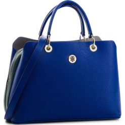 Torebka TOMMY HILFIGER - Th Core Satchel AW0AW05681 401. Niebieskie torebki do ręki damskie Tommy Hilfiger, ze skóry ekologicznej. Za 699.00 zł.