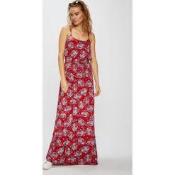 Vero Moda - Sukienka. Szare sukienki damskie Vero Moda, z materiału, casualowe, z okrągłym kołnierzem, na ramiączkach. W wyprzedaży za 99.90 zł.