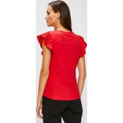 Answear - Top Stripes Vibes. Różowe topy damskie ANSWEAR, z bawełny, z okrągłym kołnierzem, bez rękawów. W wyprzedaży za 47.90 zł.