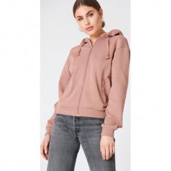 NA-KD Basic Bluza basic z kapturem - Pink. Różowe bluzy damskie NA-KD Basic, z bawełny. Za 100.95 zł.