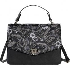 Torebka na ramię w kwiatowy wzór bonprix czarno-srebrny kolor - złoty kolor. Czarne torby na ramię damskie bonprix. Za 99.99 zł.