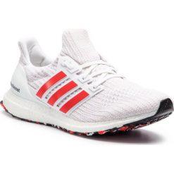 Buty adidas - Ultraboost DB3199 Ftwwht/Actred/Cwhite. Białe buty sportowe męskie Adidas, z materiału. Za 749.00 zł.