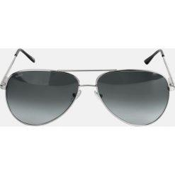 Srebrne okulary przeciwsłoneczne. Szare okulary przeciwsłoneczne męskie Kazar, z tworzywa sztucznego. Za 399.00 zł.