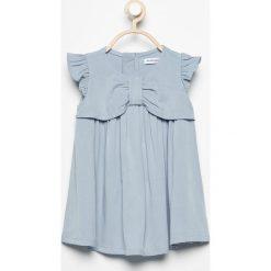 Sukienka z rękawami z falbanek - Niebieski. Sukienki niemowlęce marki Reserved. Za 39.99 zł.
