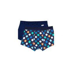 Bielizna męska Happy Socks - 2Pack Big Dot Trunk (BDO96-6000). Niebieskia bokserki męskie Happy Socks, z materiału. Za 119.90 zł.