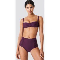 Trendyol Dół bikini z wysokim stanem i drapowaniem - Purple. Fioletowe bikini damskie Trendyol. W wyprzedaży za 40.48 zł.
