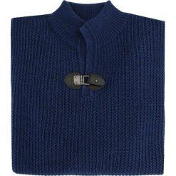 Sweter UBERTO 15-101CS. Brązowe swetry przez głowę męskie Giacomo Conti, na jesień, z aplikacjami, z wełny, ze stójką. Za 349.00 zł.