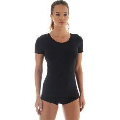 Brubeck Koszulka damska z krótkim rękawem COMFORT WOOL czarna r. M (SS11020). Bluzki damskie Brubeck. Za 131.75 zł.