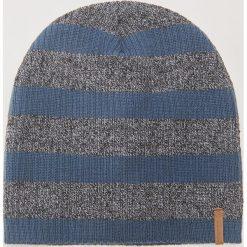 Czapka w paski - Granatowy. Niebieskie czapki i kapelusze męskie House. Za 29.99 zł.