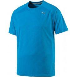 Puma Koszulka Sportowa Core-Run S S Tee Blue Danube S. Niebieskie koszulki sportowe męskie Puma, ze skóry. W wyprzedaży za 75.00 zł.