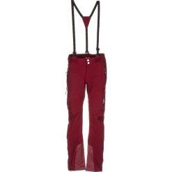 """Softshellowe spodnie narciarskie """"Scholls"""" w kolorze bordowym. Czerwone spodnie materiałowe damskie Maloja. W wyprzedaży za 388.95 zł."""