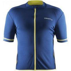 Craft Koszulka Rowerowa Męska Classic Dark Blue L. Niebieskie koszulki sportowe męskie Craft, z krótkim rękawem. W wyprzedaży za 129.00 zł.