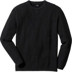 Sweter Regular Fit bonprix czarny. Swetry przez głowę męskie marki Giacomo Conti. Za 59.99 zł.