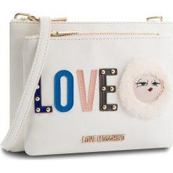 Torebka LOVE MOSCHINO - JC4274PP06KJ0100 Bianco. Białe listonoszki damskie Love Moschino, ze skóry ekologicznej. W wyprzedaży za 409.00 zł.