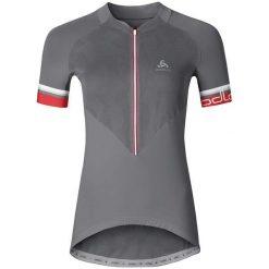 Odlo Koszulka damska Stand-up collar s/s 1/2 zip BREATHE szara r. M (411171). T-shirty damskie Odlo. Za 217.08 zł.