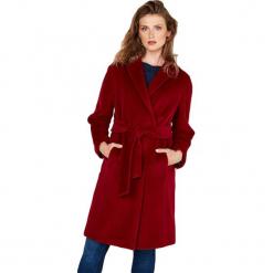 Płaszcz w kolorze bordowym. Czerwone płaszcze damskie Ostatnie sztuki w niskich cenach, na zimę, w paski, z tkaniny. W wyprzedaży za 969.95 zł.