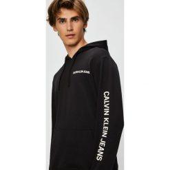 Calvin Klein Jeans - Bluza. Czarne bluzy męskie Calvin Klein Jeans, z nadrukiem, z bawełny. Za 499.90 zł.