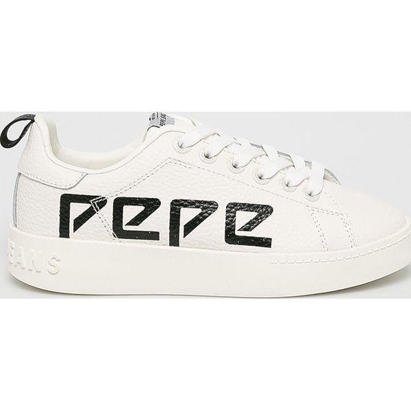 Pepe Jeans Buty Brompton Laces Białe obuwie sportowe