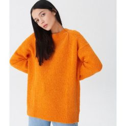 Sweter z wełną - Pomarańczo. Szare swetry damskie House, z wełny. Za 119.99 zł.