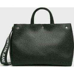 Calvin Klein Jeans - Torebka. Szare torby na ramię damskie Calvin Klein Jeans. Za 649.90 zł.
