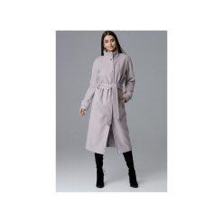 Płaszcz M624 Beż. Brązowe płaszcze damskie Figl, w paski, eleganckie. Za 329.00 zł.