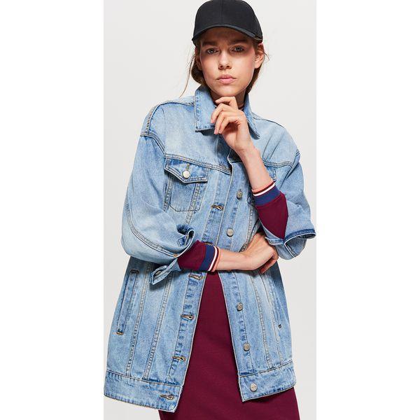 0371ea1dabe9 Długa kurtka jeansowa - Niebieski - Kurtki damskie marki Cropp. Za ...