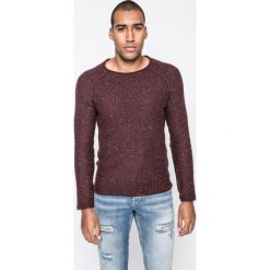 Review - Sweter. Brązowe swetry przez głowę męskie Review, z bawełny, z okrągłym kołnierzem. W wyprzedaży za 79.90 zł.