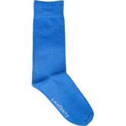 Skarpety Szafirowe. Niebieskie skarpety męskie LANCERTO, w kolorowe wzory, z bawełny. Za 29.90 zł.