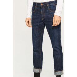Jeansy slim fit - Selvedge Denim - Niebieski. Niebieskie jeansy męskie Reserved. Za 169.99 zł.