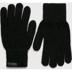 Trussardi Jeans - Rękawiczki. Czarne rękawiczki męskie TRUSSARDI JEANS, z dzianiny. Za 149.90 zł.