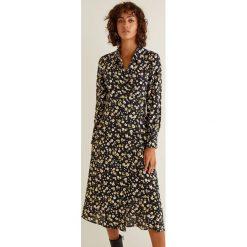 Mango - Sukienka Audrey. Szare sukienki damskie Mango, z tkaniny, casualowe, z długim rękawem. Za 199.90 zł.