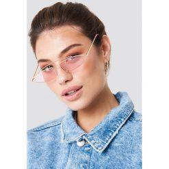 NA-KD Accessories Okulary przeciwsłoneczne z mostkiem - Pink. Różowe okulary przeciwsłoneczne damskie NA-KD Accessories. Za 52.95 zł.