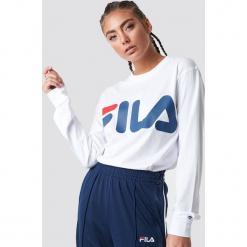 FILA T-shirt z długim rękawem Classic Logo - White. Białe t-shirty damskie Fila, z okrągłym kołnierzem. Za 141.95 zł.
