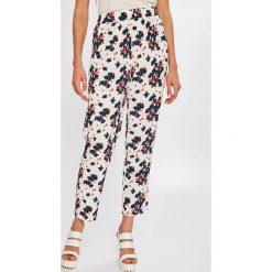 Vero Moda - Spodnie. Szare spodnie materiałowe damskie Vero Moda, z materiału. W wyprzedaży za 99.90 zł.