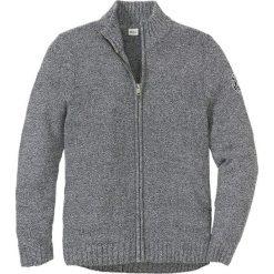 Sweter rozpinany z bawełny z recyclingu Regular Fit bonprix czarno-biały melanż. Szare kardigany męskie bonprix, z aplikacjami, z bawełny. Za 109.99 zł.