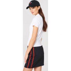 Sweet SKTBS T-shirt Sweet Basic Rib - White. Białe t-shirty damskie Sweet SKTBS, w prążki, z dzianiny, z golfem. Za 80.95 zł.